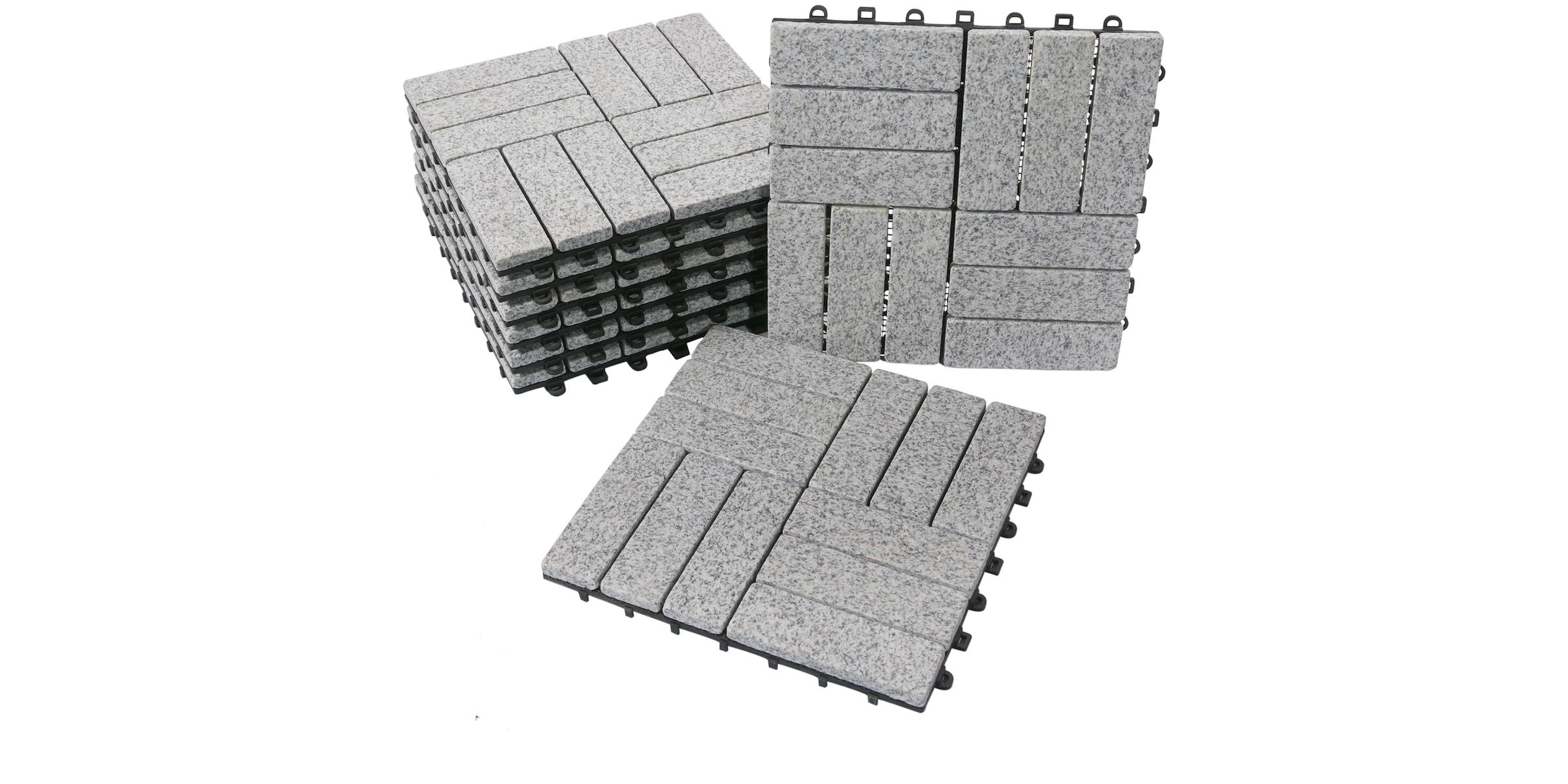 BodenMax® Granit Click Bodenfliesen Set