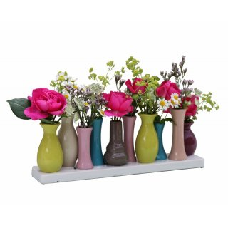 Home&Decoration Ceramic Flower Vases - Decorative Vases for Wedding, Gift, Buffet, Kitchen, Living Room (1 Tray of 10 Vases)