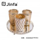 Jinfa® 3er Set Windlichter | transparent | 3...