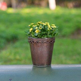 3er set blumenk bel pflanzk bel pflanzentopf rund deko for Deko metall