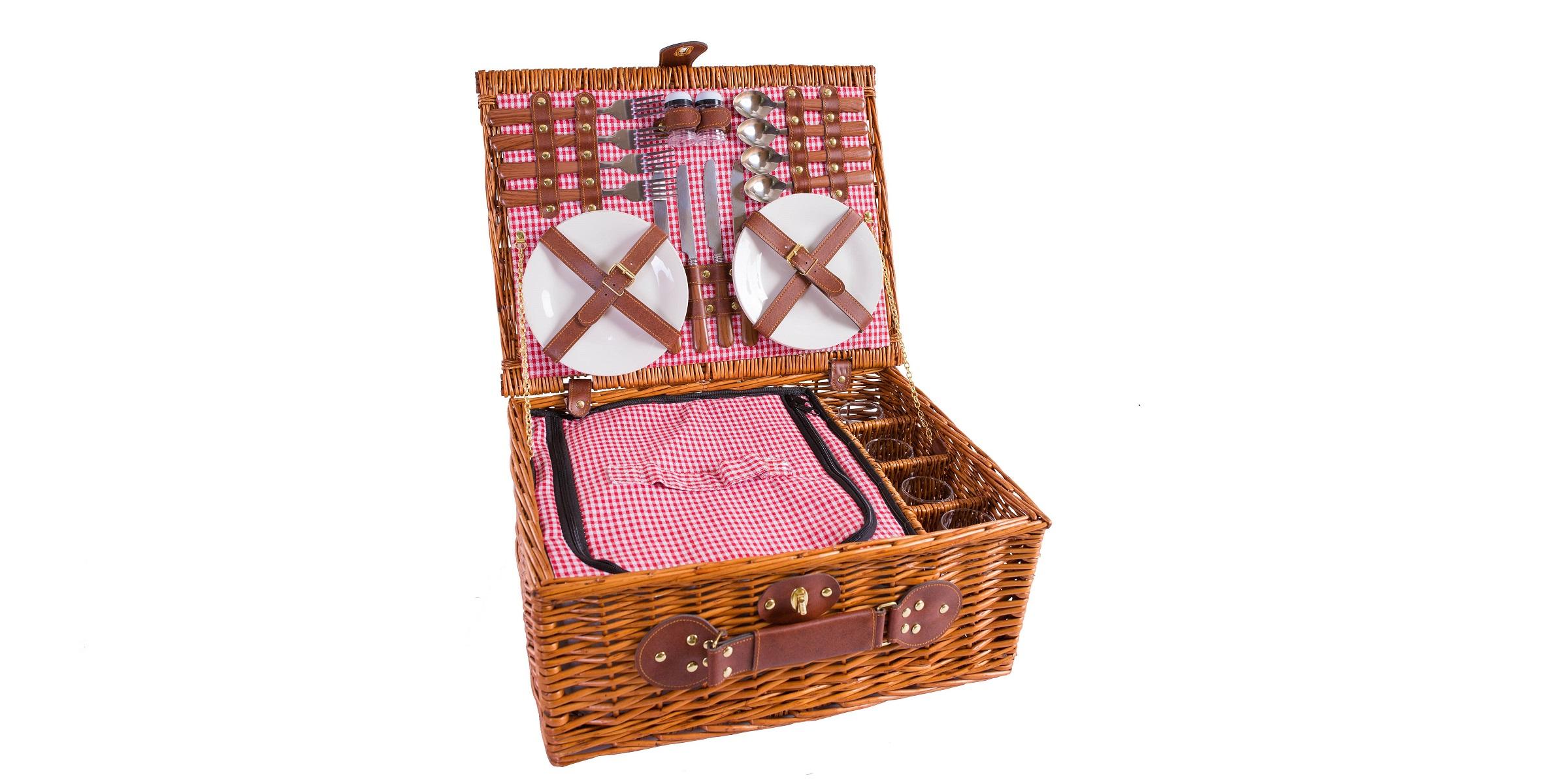 Picknickkorb für 2 oder 4 Personen