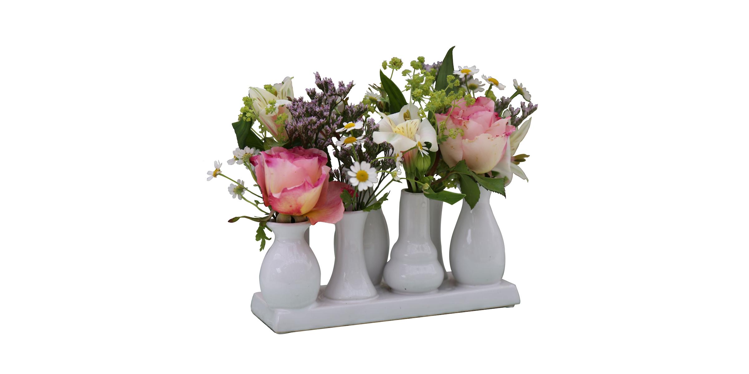 Keramikvasenset Blumenvase Keramikvasen weiß